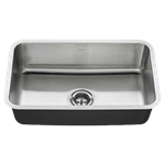 18sb.9301800t.075 Ams Stainless 30x18 Sb Sink W/ Waste Fittings 18 Gauge Undermount CAT108,791556100787