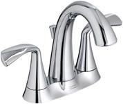 7186201002 As Fluent Polished Chrome Ada Lf 4 Centerset 3 Hole 2 Handle Bathroom Sink Faucet 1.2 Gpm CAT117L,7186201002,012611559174,7186201002
