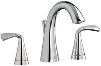 7186801002 As Fluent Polished Chrome Ada Lf 6 To 12 Widespread 3 Hole 2 Handle Bathroom Sink Faucet 1.2 Gpm CAT117L,7186801.002,012611559235,7186801002