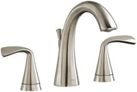 7186801295 As Fluent Pvd Satin Nickel Ada Lf 6 To 12 Widespread 3 Hole 2 Handle Bathroom Sink Faucet 1.2 Gpm CAT117L,7186801.295,012611559259,7186801295
