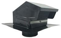 012635 4 26 Gauge Vent Cap Black With Sleeve Damper And Screen CAT305,RAV4,722048126350