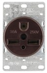 1234-box Eaton Power/single Flush Straight Blade 250 Volts Black Glass Reinforced Nylon Electrical Receptacle CAT752C,1234-BOX,032664306303