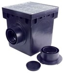 1200mtlkit Nds 12-3/8 X 12-3/8 X 12-15/16 Poly Catch Basin CAT467N,1200MTLKIT,