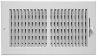 01081006cw 160 150 10 X 6 Bright White Enamel Steel 2-way Register CAT350,GR160106,08760001,SEL150106,150106,150,160106,1081006,053713858895,1081006CW,160,SEL01081006CW,053713858772