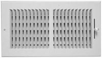 01081206cw 160 150 12 X 6 Bright White Enamel Steel 2-way Register CAT350,GR160126,08760167,150126,150,160126,999000029258,1081206,053713033209,1081206CW,053713858970