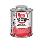 30834 Oatey 16 Oz All Purpose Cement Clear CAT468O,OA16,01802012,HA16,0038753308340,30834,038753308340
