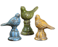 19705 D-w-o Bird Trio Ceramic S/3 CATDUTT,19705,CATDUTT,