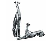 19780 D-w-o Resting Greyhounds S/2 5x20 Figurine CATDUTT,19780,CATDUTT,