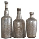 19753 Uttermost Lamaison Silver Mercury Glass Bottles Set Of 3 CATUTT,19753,792977197530