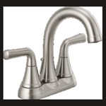 2533lf-ssmpu Stainless Delta Kayra Two Handle Centerset Bathroom Faucet