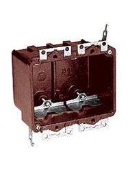 6062-4ub T&b 25 Cu In 2 Gang Brown Rectangular Electrical Box CAT751U,C60624,S232W,60624,2GB,
