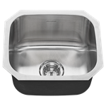 18sb.9181600s.075 Ams Stainless Portsmouth Single Bowl W/ Waste Fitting 18 Gauge Undermount CAT108,791556100879