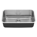 18sb.9301800s.075 Ams Stainless Portsmouth Single Bowl With Waste Fitting 18 Gauge Undermount CAT108,791556100855