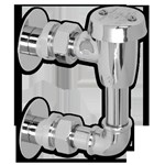 7837.124.002 Chrome Vacuum Breaker W/ Top Outlet