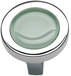 229-gr-ch Spa Green Round Knob 1 1/4 Inch-polished Chrome
