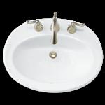 0478.803.020 American Standard Piazza 3 Hole Counter Top 8 In Centerset/widespread Bathroom Sink