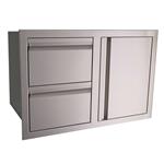 Vdc1 Rcs Valiant Stainless Double Drawer Door Combo