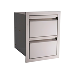 Vdr1 Rcs Valiant Stainless Double Drawer Fully Enclosed