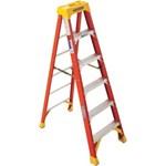 778281 6208 Werner 8 Ft Fiberglass Step Ladder Type 1a 300 Lb