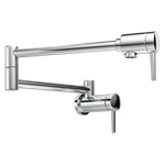 1165lf Delta Chrome Contemporary Wall Mount Pot Filler CAT160FOC,1165LF,034449747745,MFGR VENDOR: DELTA,PRCH VENDOR: DELTA,34449747745