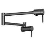1165lf-bl Delta Matte Black Contemporary Wall Mount Pot Filler CAT160FOC,1165LF-BL,34449851367,034449851367,