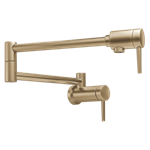 1165lf-cz Delta Champagne Bronze Contemporary Wall Mount Pot Filler