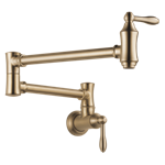 1177lf-cz Delta Champagne Bronze Traditional Wall Mount Pot Filler CAT160FOC,1177LF-CZ,034449711944,34449711944