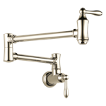1177lf-pn Delta Polished Nickel Traditional Wall Mount Pot Filler CAT160FOC,10034449821398,34449821391,034449821391
