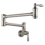 1177lf-ss Delta Stainless Traditional Wall Mount Pot Filler CAT160FOC,1177LF-SS,1177LFSS,34449649254,034449649254,