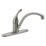 140-ss-dst Delta Stainless Collins Single Handle Kitchen Faucet