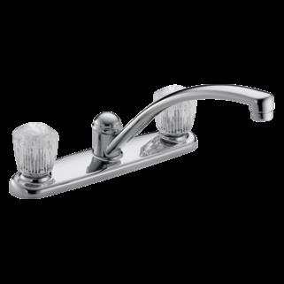 Delta Faucet Company Delta Chrome 2100 2400 Series Two Handle Kitchen Faucet