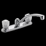 2102lf Delta Chrome 2100 / 2400 Series Two Handle Kitchen Faucet CAT160,2102LF,2102LF,2102LF,034449620062,34449620062
