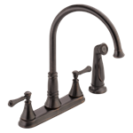 2497lf-rb Delta Venetian Bronze Cassidy Two Handle Kitchen Faucet With Spray CAT160FOC,2497LF-RB,2497LF-RB,2497LF-RB,034449685320,34449685320,