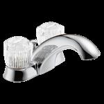 2522lf Chrome Delta Classic Two Handle Centerset Bathroom Faucet
