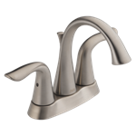 2538-sstp-dst Delta Stainless Lahara Two Handle Tract-pack Centerset Bathroom Faucet
