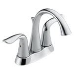 2538-tp-dst Delta Chrome Lahara Two Handle Tract-pack Centerset Bathroom Faucet