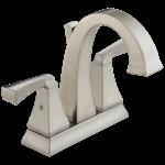 2551-spmpu-dst Delta Spotshield Stainless Dryden Two Handle Centerset Bathroom Faucet