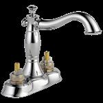 2597lf-mpu-lhp Delta Chrome Cassidy Two Handle Centerset Bathroom Faucet - Less Handles CAT160FOC,2597LF-MPU-LHP,034449681766,2597LFMPULHP,34449681766,