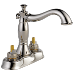 2597lf-pnmpu-lhp Delta Polished Nickel Cassidy Two Handle Centerset Bathroom Faucet - Less Handles