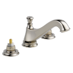 3595lf-pnmpu-lhp Delta Polished Nickel Cassidy Two Handle Widespread Bathroom Faucet - Low Arc Spout - Less Handles CAT160FOC,3595LF-PNMPU-LHP,034449681902,3595LFPNMPULHP,34449681902,