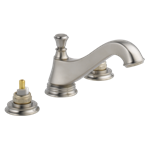 3595lf-ssmpu-lhp Delta Stainless Cassidy Two Handle Widespread Bathroom Faucet - Low Arc Spout - Less Handles CAT160FOC,3595LF-SSMPU-LHP,034449681872,3595LFSSMPULHP,34449681872,