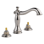 3597lf-pnmpu-lhp Delta Polished Nickel Cassidy Two Handle Widespread Bathroom Faucet - Less Handles