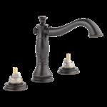 3597lf-rbmpu-lhp Delta Venetian Bronze Cassidy Two Handle Widespread Bathroom Faucet - Less Handles CAT160FOC,3597LF-RBMPU-LHP,034449681834,3597LFRBMPULHP,34449681834,