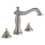3597lf-ssmpu-lhp Delta Stainless Cassidy Two Handle Widespread Bathroom Faucet - Less Handles CAT160FOC,3597LF-SSMPU-LHP,034449681827,3597LFSSMPULHP,34449681827,
