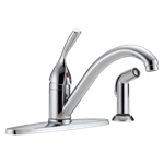 400-dst Delta Chrome 134 / 100 / 300 / 400 Series Single Handle Kitchen Faucet With Spray CAT160,Other,034449593373,400DST,green,DELTA GREEN,LEAD FREE,Lead Free,D400,400,KSF,green,DELTA GREEN,34449593373