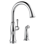 4297-dst Delta Chrome Cassidy Single Handle Kitchen Faucet With Spray CAT160FOC,4297-DST,034449705677,34449705677