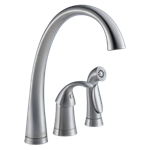 4380-ar-dst Delta Arctic Stainless Pilar Single Handle Kitchen Faucet With Spray CAT160FOC,4380-AR-DST,4380-SS-DST,4380ARDST,4380SSDST,34449645140,034449645140,