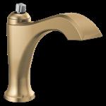 556-czlpu-lhp-dst Delta Champagne Bronze Dorval Single Handle Faucet Less Pop-up, Less Handle
