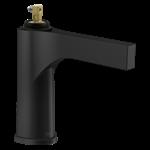 574-bllpu-lhp-dst Delta Matte Black Zura Single Handle Bathroom Faucet - Less Handles