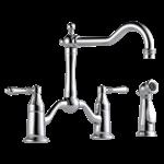 62536lf-pc Brizo Chrome Tresa Two Handle Bridge Kitchen Faucet With Spray CAT160BR,62536LF-PC,034449599887,62536LFPC,MFGR VENDOR: DELTA,PRCH VENDOR: DELTA,34449599887,